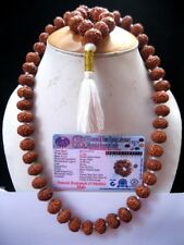 Lab Certified 9 Mukhi Rudraksha Rudraksh 54 Beads Mala /Durga Shakti Kantha Mala