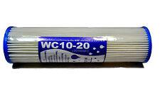 "10"" WATER FILTER REUSABLE WASHABLE PLEATED SEDIMENT 20 MICRON RO HMA BIO DIESEL"
