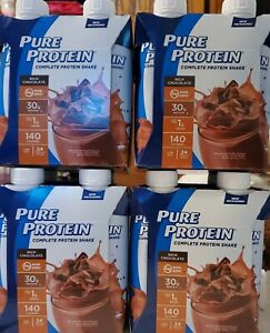 16 Count Pure Protein Rich Milk Chocolate Shakes (4) Four Packs