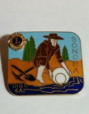 Vtg Rare SONORA  CA DIST. 4AI LIONS CLUB  Pin Brooch-Back Pin Gold Panning