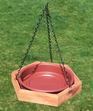 Hanging Cedar Bird Bath or Feeder from Patio Style Concepts