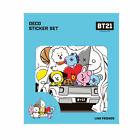 BTS BT21 Official by Line Friends Deco Sticker Set 10pcs  Free gift