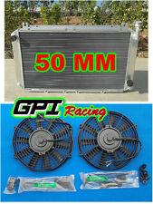 aluminum radiator for Nissan GQ PATROL Y60 4.2L Petrol MT TB42S TB42E &2 × fans