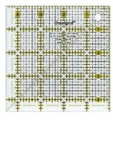 """Omnigrid 4 1/2"""" Square Ruler for Quilting, Miniatures, Sewing & Crafts 4.5 inch"""