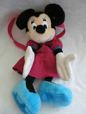 """GENUINE DISNEY MINNIE MOUSE PLUSH BACKPACK 19"""" PINK & BLUE IN EUC"""