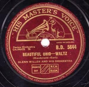 "Glenn Miller War Time 198cm Missouri Waltz / Beautiful Ohio "" GB Hmv Bd 5644 Ex"