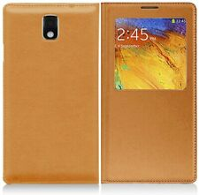 Dream Wireless SAMSUNG GALAXY NOTE 3 BATTERY LEATHER COVER FLIP YELLOW New