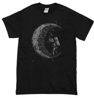 Digging The Moon Miner Mens Funny T-Shirt