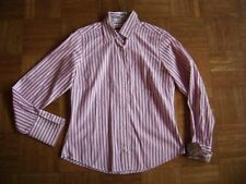 @ Clarina Collection @ klassische Bluse weiß-pink Gr 36 Size S UK 10 US 8