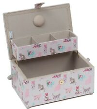 SEWING BASKET BOX 'CATS' CANTILEVER DESIGN Large Size SUPER QUALITY MRCA494