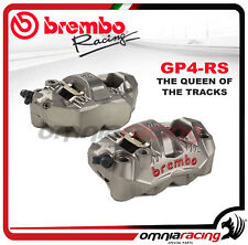 Coppia Pinze Radiali Monoblocco Brembo GP4 RS Interasse 108mm Pastiglie Incluse