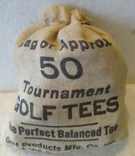 VINTAGE CLOTH SACK-TOURNAMENT GOLF TEES  NICE CONDITION  NO TEARS