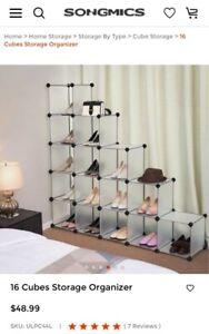 songmics 16 cube storage white translucent organizing unit multiple ways