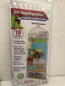 Gift Bag Organizer - Storage for Gift Bags, Bows, Ribbon and More - Organize ...
