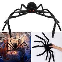 Spider Halloween Decoration Haunted House Prop Indoor Outdoor Black Giant 300mm