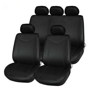9PCS Complete Car Seat Cover Breathable Protector Cushion Universal Full Set