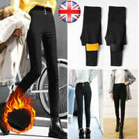 Winter Women's Fleece Lined Thermal Stretchy Leggings Warm Thick Trousers Pants
