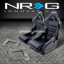NRG TYPE-R DEEP BUCKET RACING SEATS+STAINLESS STEEL BRACKET FOR MK3 VW GOLF/GTI(Fits: Golf)