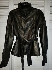 Ivagio Certain Russian Leather Jacket Ladies Size 38