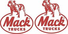 Mack Truck Logos 2 x 300 x 295 Quality Stickers UV Marine Grade Material