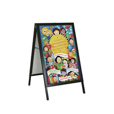 """New Retails Black Two-Sided A- Board Frame Signs 22""""W x 28""""H"""
