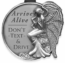 Angelstar Arrive Alive Don't Text and Drive Angel Pewter Metal Visor Clip 15672