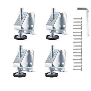 4Pcs Leveling Feet Furniture Leg Adjustable for Workbench Cabinet Table Machine