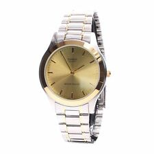 Casio MTP1128G-9A Mens Stainless Steel Two-Tone Dress Watch Gold Luminous Hands