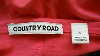 Country Road 💖💖 Pretty & Cool Watermelon Linen Blend Tee shirt Suit 14 16 NWOT