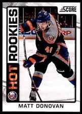2012-13 Score Hot Rookies Matt Donovan #532
