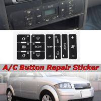 A/C Reparatursatz Ersatz Aufkleber Aufkleberset Knopf für Audi A2/ A3 8L A/C