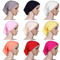 Muslim Stretch Women's Head Scarfs Cotton Turban Hijab Underscarf Cover Headwrap
