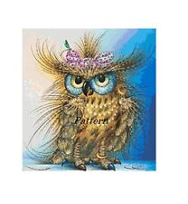 Fashion Owl. Counted Cross Stitch Pattern. Paper version or PDF Files!
