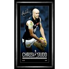 CARLTON BLUES CHRIS JUDD SIGNED AND FRAMED PLAYERS VERTIRAMIC COLLAGE
