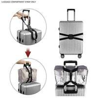 Gepäck Kreuz elastischer Gurt Gurt verstellbarer Reisekoffer Taschengurt Gü T6M7