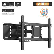 "TV Wall Bracket Mount Tilt & Swivel for 37 40 42 46 50 55 60 65 70"" Double Arms"