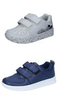 Ellesse Chaussures Enfant Baskets Blanc Bleu Cuir
