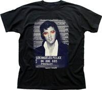 Elvis Presley King of Rock Jail photo black printed tshirt OZ9352