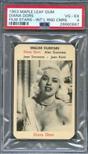1953 Maple Leaf Gum Card International DIANA DORS Actress The Unholy Wife PSA 4