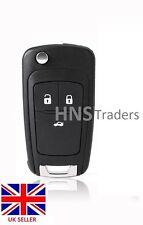 3 botón remoto Flip clave Funda Blade Para Opel Opel Zafira Astra insig + Logo