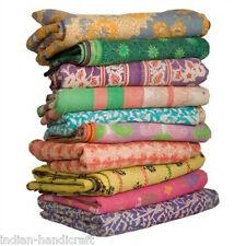 10 Quilts Vintage Heavy Kantha Gudri Reversible Ralli Bedspread Bedding GD2