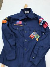 Official Boy Scouts of America  Long Sleeve Shirt Uniform Button Front Size  12