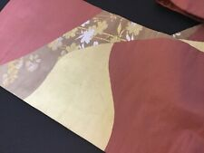 Authentic Vintage Japanese Silk Kimono  Nagoya obi belt ,Woven Elegance  #2288