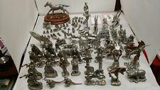 80+ pc Lot Pewter Figurines Masterworks Sedlow Cutter Dragon Unicorn Pegasus