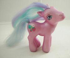 Vintage My Little Pony Sweetberry 2002 Hasbro Pink Pony Blue Hair