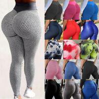Women Anti-Cellulite Yoga Pants High Waist Push Up Leggings Fitness Textured P2
