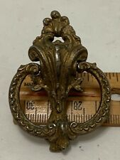 1/2 Ring Handle Pierced Scroll Crest Drawer Pull Vintage Fancy French Style