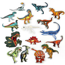 Dinosaur Badges Embroidered Iron on Patch Animal Emblems Child DIY Transfer Logo