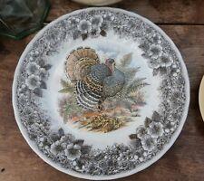"""Vintage Churchill Myott Wildlife 10"""" Turkey Dinner Plate - VGC"""
