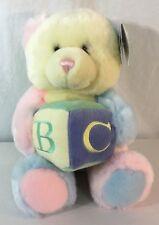 Aurora Musical Teddy Bear Baby Pastel ABC Block Plush Stuffed Infant Toy Gift